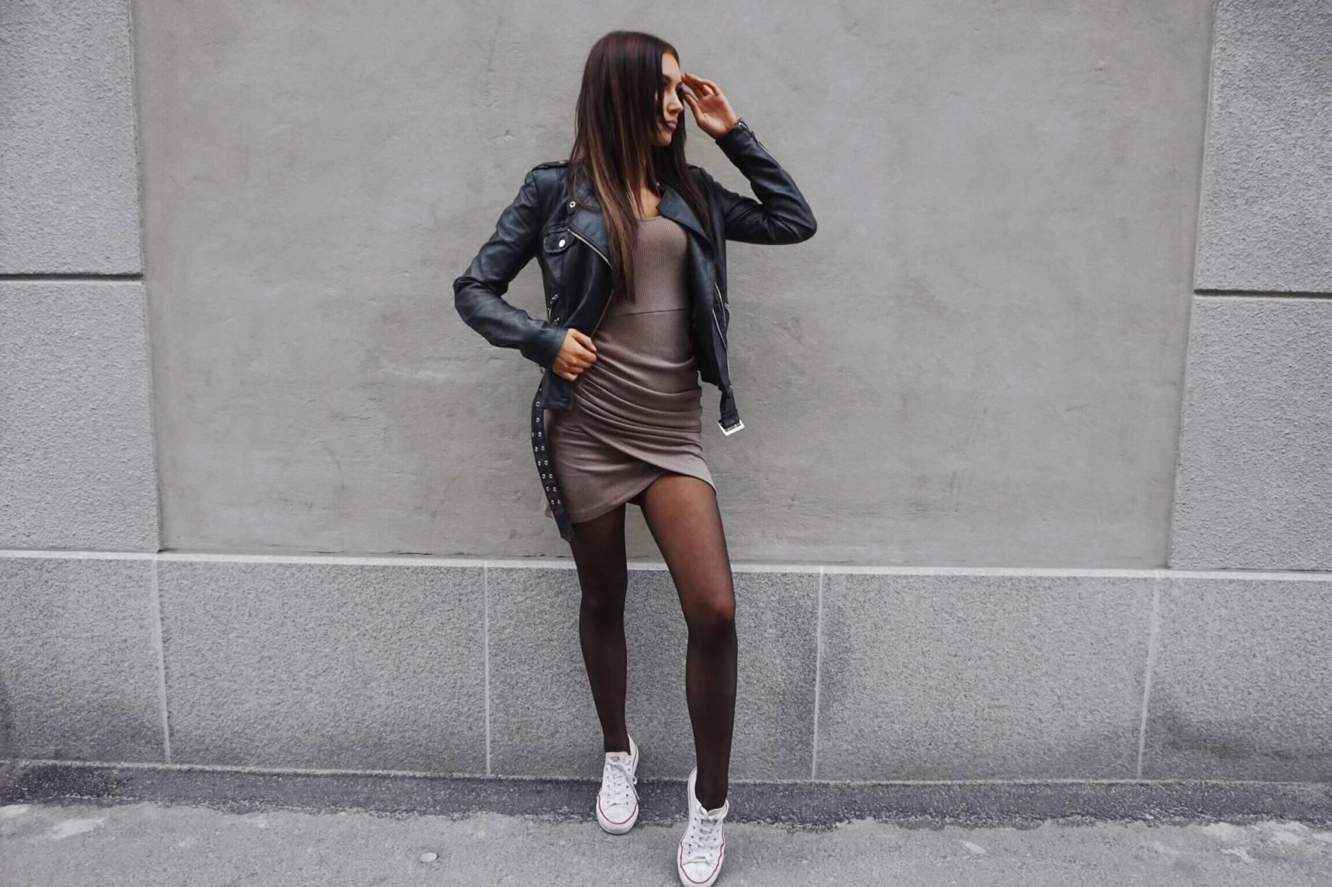 d43414469788 Dress – chiquelle.com / jacket – vero Moda / shoes – converse