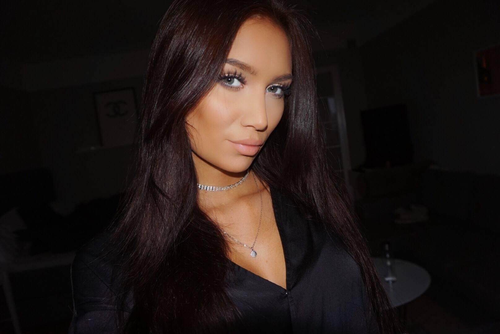 svart toning hår