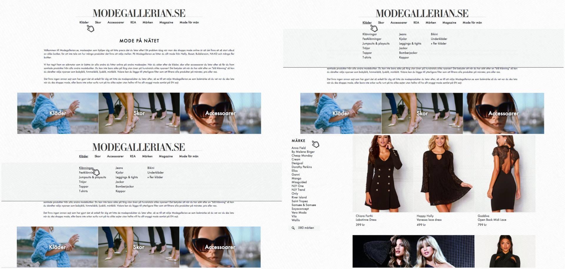 Snygga stickade klänningar online Modegallerian